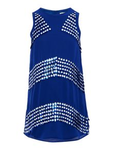 French Connection Girls Sequin Detail Shift Dress