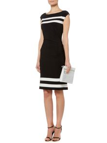 Georgina two tone sleeveless dress