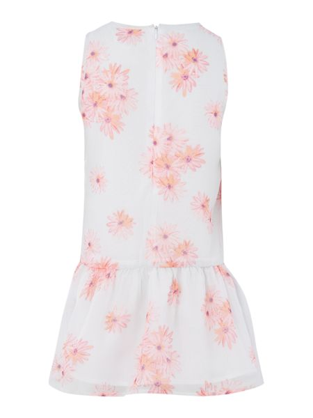 French Connection Girls Floral Print Drop Waist Dress