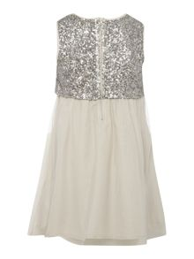French Connection Girls Sleeveless Sequin Top Dress