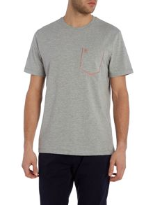 Original Penguin Flatlock stitch pocket crew
