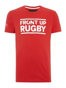 Front Up Rugby Graphic Crew Neck t-shirt