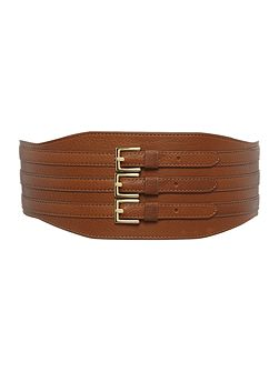 Biba triple buckle waist belt