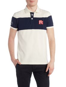 Front Up Rugby Block Stripe Short Sleeve Polo