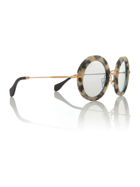 Miu Miu Gold round MU 13NS sunglasses