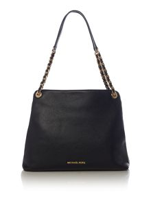 Michael Kors Jet set black chain shoulder tote