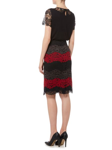 Linea Lace illusion pencil skirt