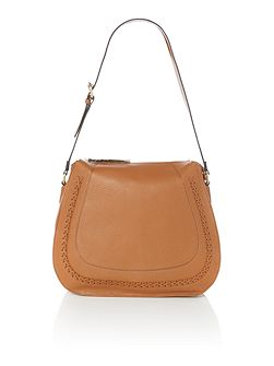 Claudia structured hobo bag