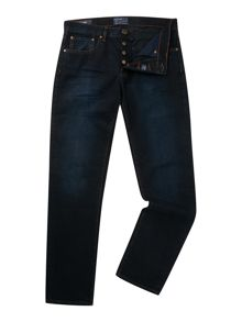 Criminal Slater Slim Leg Dark Blue Jeans