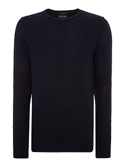 Lightly Textured Crew Neck Jumper