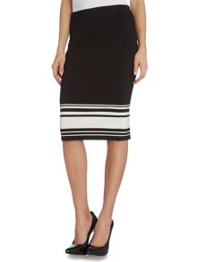 Vince Camuto Pencil skirt with horizontal stripe hem