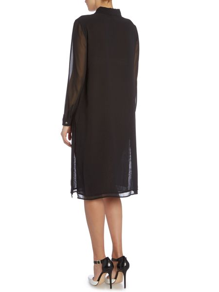 Vince Camuto Relaxed sheer tunic dress