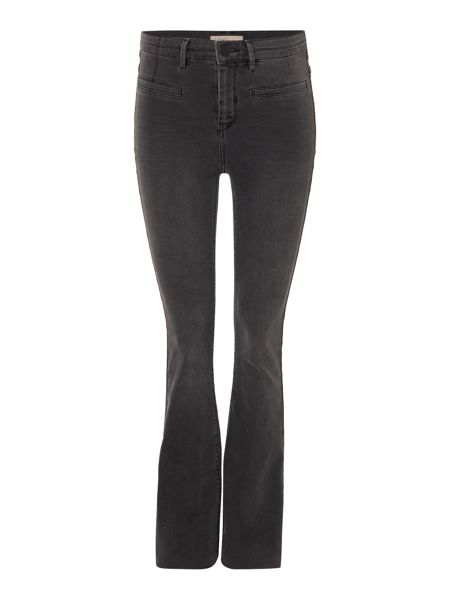 Label Lab Iris High Waist Washed Skinny Flare