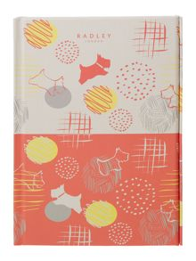 Radley Scribble Print multicoloured A5 notebook