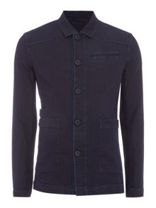 Sisley Men Denim Shirt Jacket