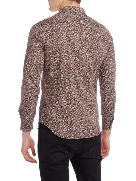 Sisley Men Micro Floral All Over Print Shirt