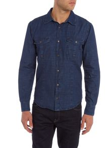 Sisley Men Long Sleeve Denim Shirt
