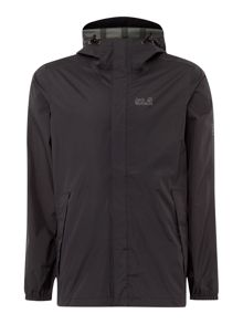 Jack Wolfskin Cloudburst lightweight zip through hoodied jacket