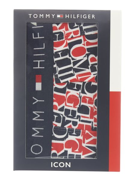 Tommy Hilfiger Iconic all over logo print trunk