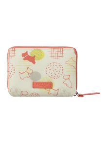 Radley Scribble Print multi coloured medium zip purse