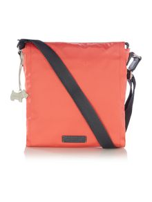 Radley Scribble Print orange medium crossbody bag