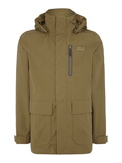Kingsley zip through hoodied parka jacket