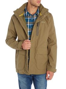 Jack Wolfskin Kingsley zip through hoodied parka jacket