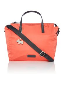 Radley Scribble Print orange medium multiway bag