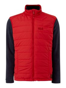 Jack Wolfskin Glen dale 3 in 1 quilt fleece zip through jacket