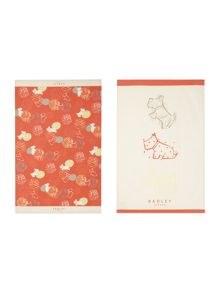 Radley Scribble Print multicoloured set of tea towels