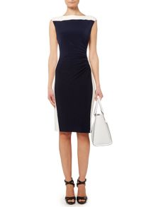 Gianne 2 tone cap sleeve shift dress