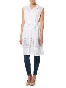 Dickins & Jones Broderie Anglais Shirt Dress Coverup