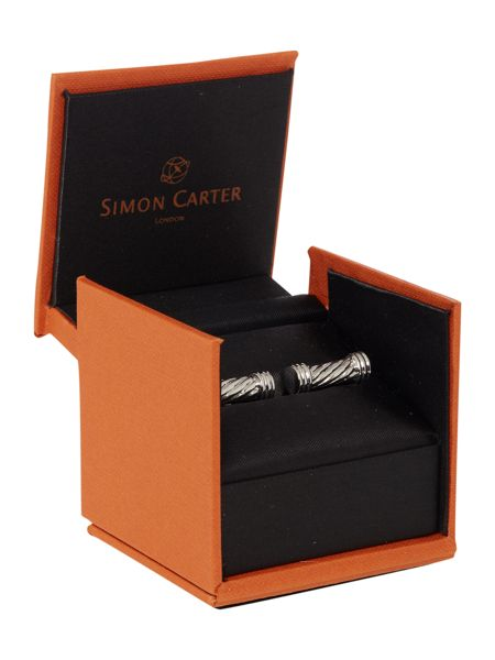 Simon Carter Twisted tube cufflink