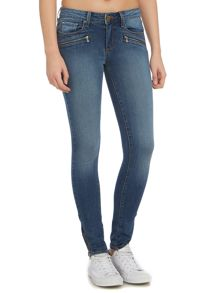 Paige Jill zip ultra skinny jean in vincente