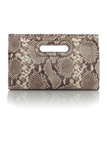 Michael Kors Rosalie natural large clutch bag