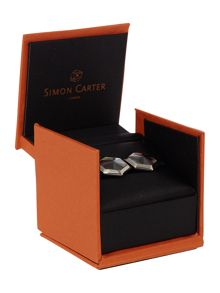 Simon Carter Hexagon mother of pearl cufflink