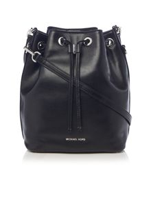 Michael Kors Dottie black large bucket bag