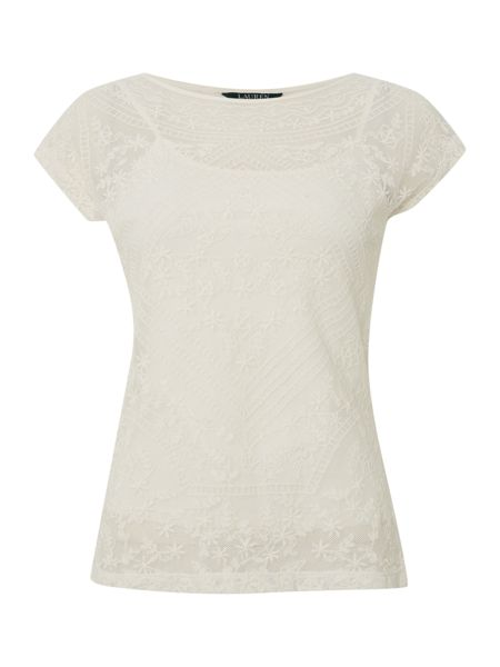 Lauren Ralph Lauren Pawlegk short sleeve boatneck top