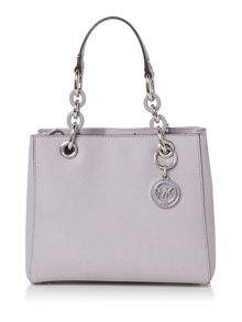 Michael Kors Cynthia purple small satchel bag