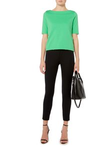 Aundria boatneck cropped top