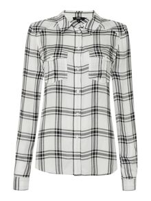 Paige Mya checked shirt