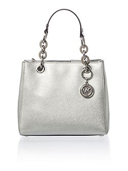 Cynthia silver small satchel bag