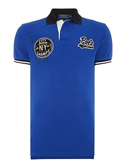 Appliquéd Slim-Fit Polo Shirt