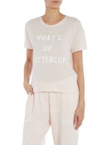 Zoe Karssen Short sleeve what`s up buttercup t-shirt