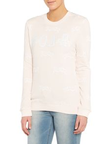 Zoe Karssen Long Sleeved Roar Tiger Printed Sweatshirt