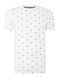 Buffe regular fit all over logo print t