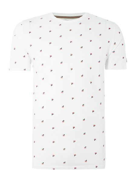 Fila Buffe regular fit all over logo print t shirt