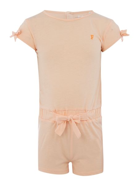 French Connection Girls Bow Shoulder Jersey Playsuit