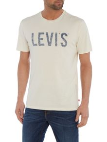 Levi's Regular fit text logo printed t shirt