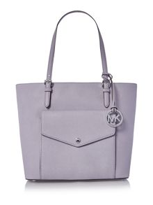 Michael Kors Jetset purple large pocket tote bag